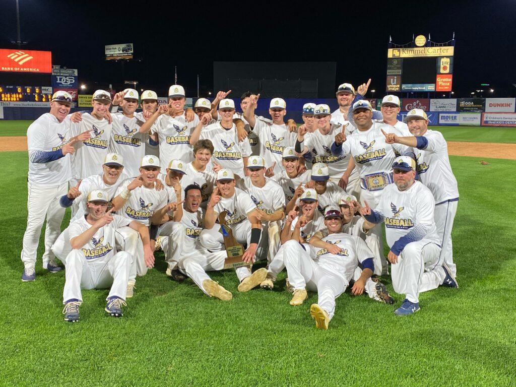 DMA baseball team with championship trophy