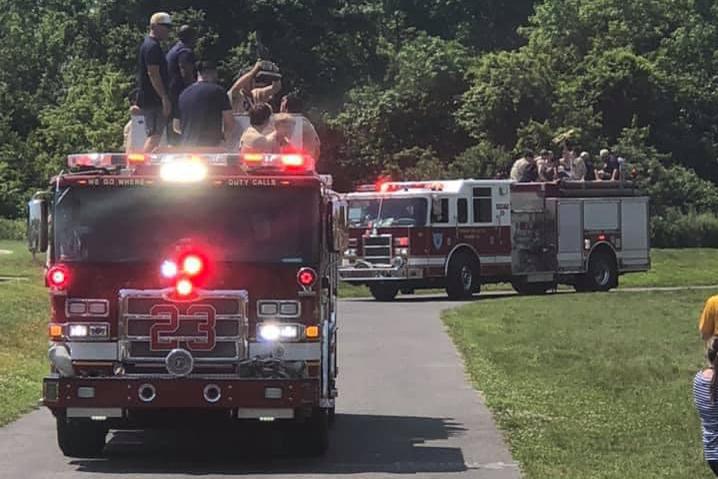 DMA baseball firetruck parade